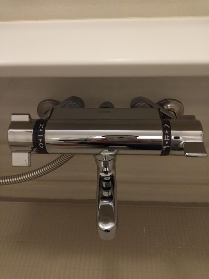 浴室のカラン クリーニング後