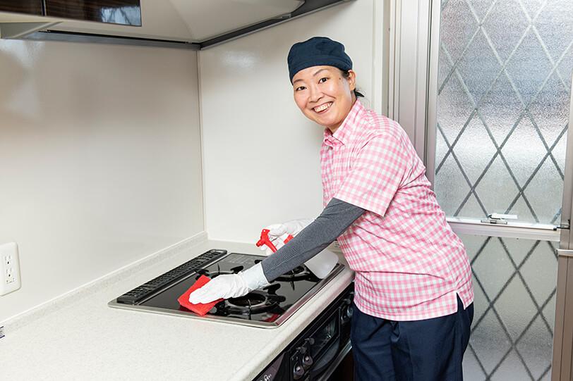キッチンクリーニング(台所クリーニング) 施工の様子