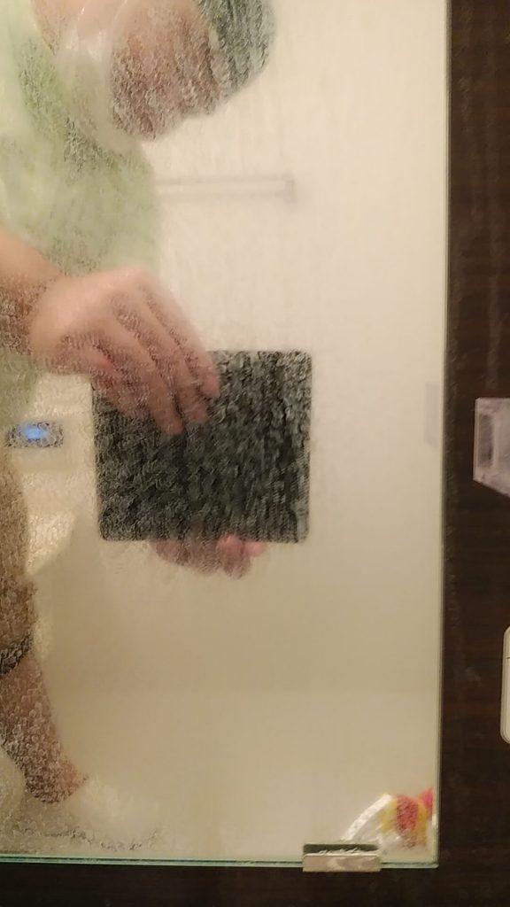 埼玉県さいたま市西区 浴室鏡のクリーニング前