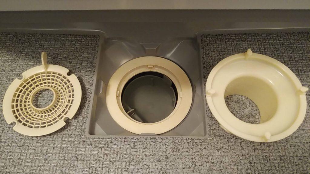 埼玉県さいたま市の浴室クリーニング後、排水口洗浄