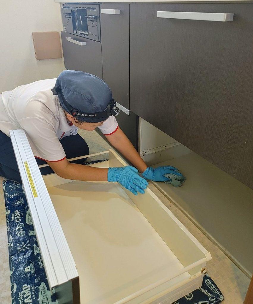越谷市、キッチン掃除、キッチンクリーニング、施工例